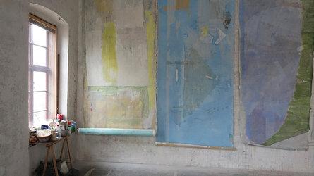 Wandmalerei zwischen Fresko und Bild