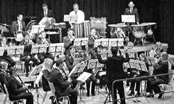 Musikverein Galgenen unter der Leitung von Reto Walker.