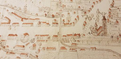 Zeichnung Flecken Glarus 1745