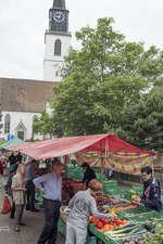 Unser Marktstand am Wochenmarkt in Bülach