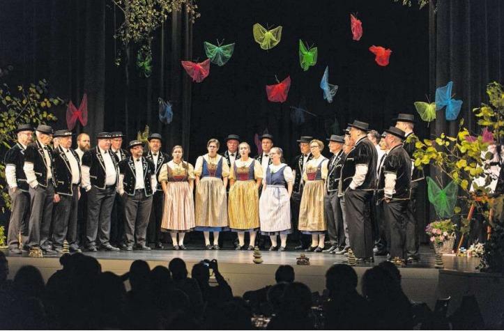 Der Jodlerklub Heimelig am Herbstkonzert im Baarer Gemeindesaal. (Bild PD)