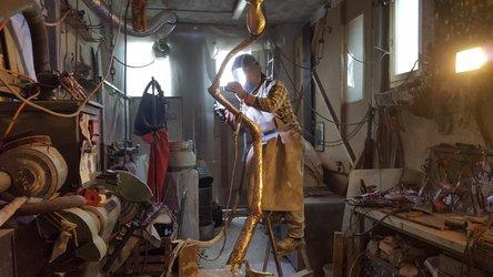 Tim Gregory Steiner im Atelier