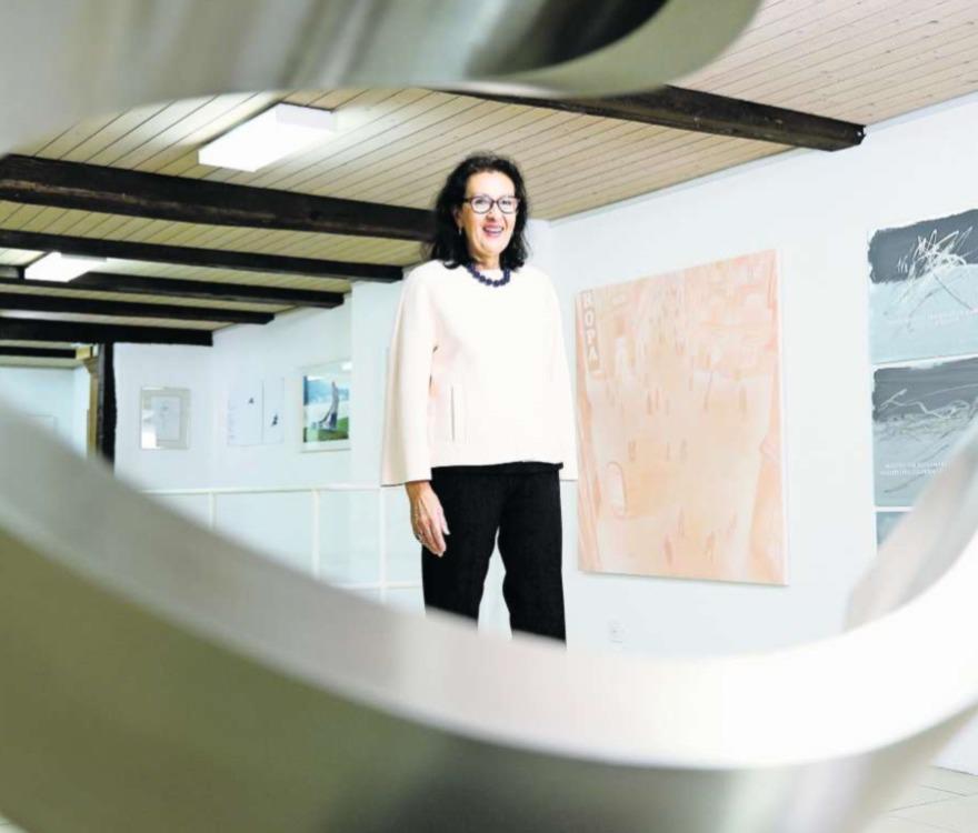 Hat Pläne für ihre Baarer Galerie: Maria Ziegler (65). (Bild Stefan Kaiser)