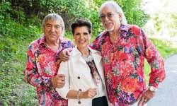 Maja Brunner hat mit den Amigos (links Bernd Ulrich, rechts Karl-Heinz Ulrich) eine gemeinsame Single veröffentlicht. Bild zvg