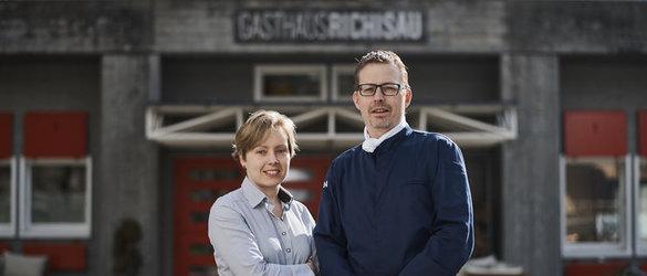 Anne Hurmerinta und Jacob van Seijen, die Gastgeber im Richisau