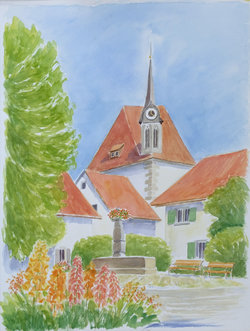 In Greifensee, Aquarell