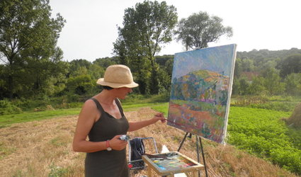Malen in der Natur am Greifensee