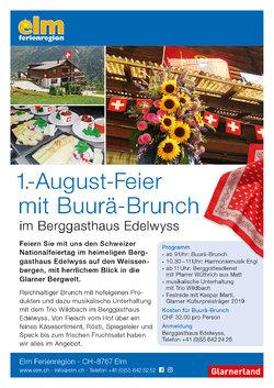 1.-August-Feier mit Buurä-Brunch im Berggasthaus Edelwyss - 1