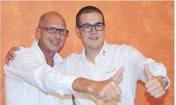 Theo Kälin (links) übergibt sein Amt als Präsident in die jüngeren Hände von Lukas Kauflin. Bild zvg