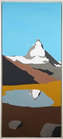 Matterhorn, Oel auf Leinwand, 40 x 90 cm