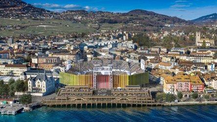 700 Tonnen Metall und Platz für 20'000 Besucher: Die gigantische Arena der Fête de Vignerons in Vevey (Bild: Fêtedevignerons)