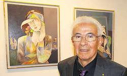 Der Merlischacher Künstler Francisco Coello: Auch seine neuen Bilder zeigen Frauen. Bild Silvia Camenzind