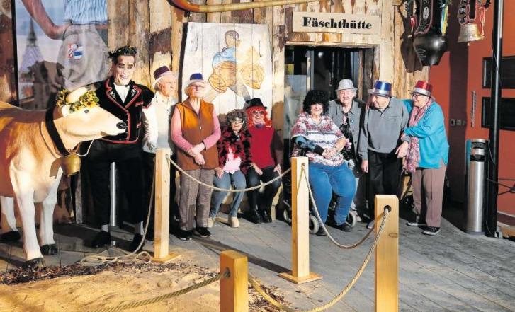 Die Bewohner des Chlösterlis sind bereit für die Fasnacht. (Bild Stefan Kaiser)