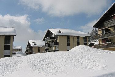 Die Apartmenthäuser im Winter
