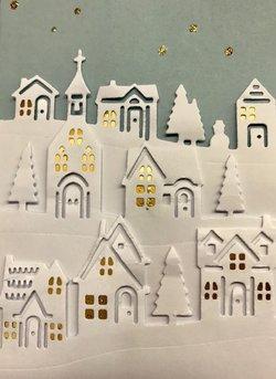 Weihnachtskarten-Ausschnitt