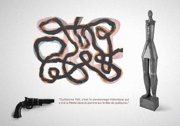4 artistes jurassiens, graphisme Yves Juillerat