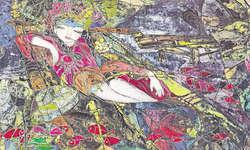 Dieses Bild von Leisa Li heisst Lotus Girl und wurde in Peking ausgestellt.