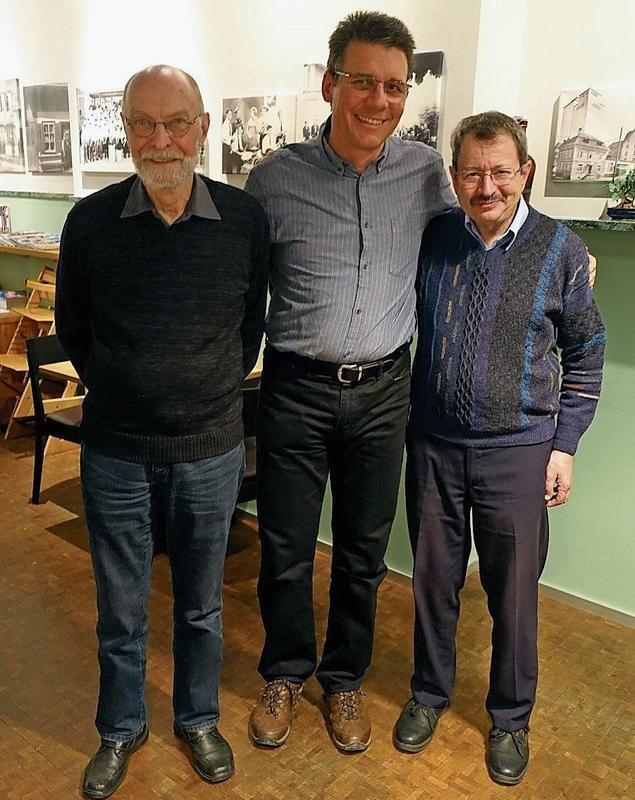 Herbert Scheurer, Hanspeter Kempf und Theo Iten (von links) bilden den neuen Vorstand. (Bild PD)