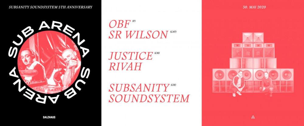 ABGESAGT: Sub Arena OBF & Sr. Wilson, Justice Rivah