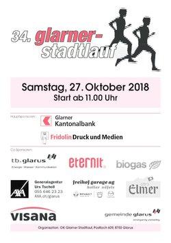 Ausschreibung Glarner Stadtlauf 2018
