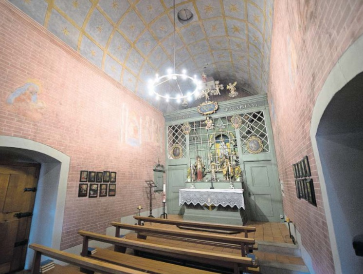 Das Innere der Loreto-Kapelle ist ein Abbild des «heiligen Hauses Mariens» in Italien. (Bild Maria Schmid)