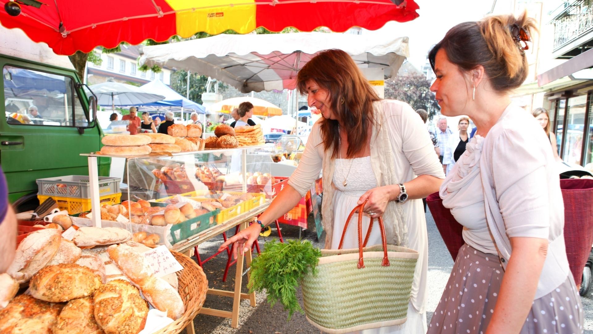 Samstagsmarktes in Bulle