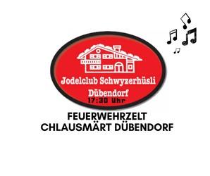 Jodelclub Schwyzerhüsli im Feuerwehrzelt am Chlausmärt