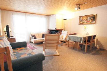 Wohnzimmer im der Ammler Ferienwohnung Apartment Kaiser