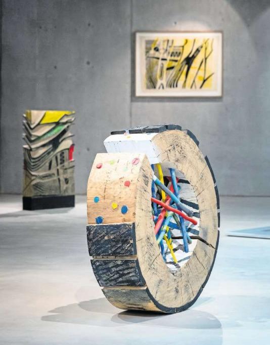 Die Kunstwerke von René Büchi im Ziegeleimuseum. (Bild Christian H. Hildebrand)