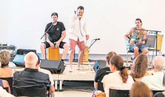 Die Band «Weibello and the Gang» an der Jubiläumsfeier. (Bild Patrick Hürlimann)