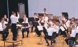 Der Musikverein Galgenen überzeugte mit präzisem Spiel. Bild Kurt Kassel