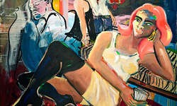 Elvira Bach: FIRST BERLIN, 2008, 190 x 230 cm, Acryl auf Leinwand