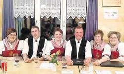 Der aktuelle Vorstand: Eveline Ott, Beat Ulrich, Vreni Beeler, Erich Ott, Irene Hediger, Corinne Ott (von links).