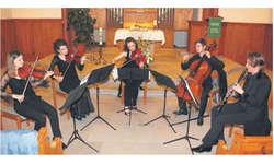 Das Belenus Quartett sorgte zusammen mit Klarinettistin Rita Karin Meier für ein eindrückliches Konzerterlebnis. Bild Janine Jakob