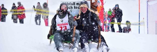 Hornschlittenrennen in Braunwald