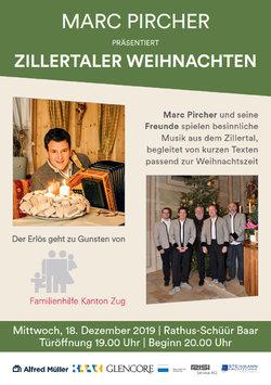 Weihnachten 2019 Musik.Zillertaler Weihnachten Zug Kultur