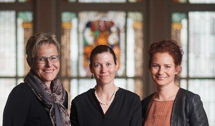 Die Koordinatorinnen Anna Rosa Streiff Annen, Fränzi Tschudi und Sabine Steinmann (von links).