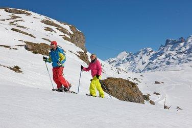 Klettersteig Jochpass : Schneeschuhwanderung engelberg jochpass melchsee frutt