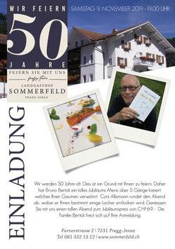 50-Jahre-Jubiläum Landgasthof Sommerfeld