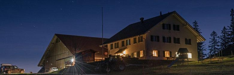 Bergrestaurant Althüsli: Aussenansicht bei Nacht
