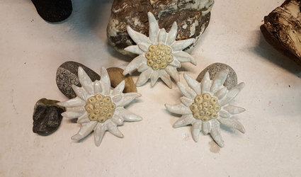 Edelweiss aus Keramik