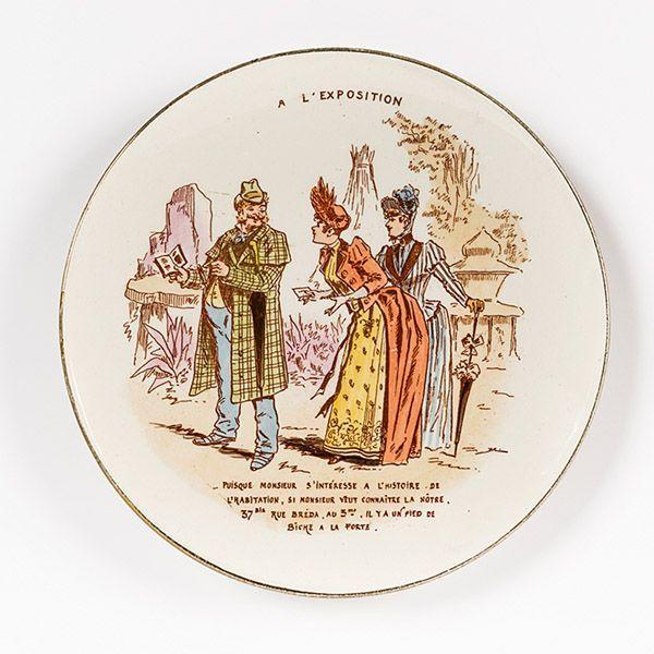Speaking Plates - printed narrative scenes on 19th century creamware