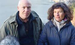Thomas Horat (Regie) und Salome Pitschen (Kamera): Nach den «Wätterschmöckern » ist nun bald der «Alpsummer» premierenreif. Bild Ernst Immoos