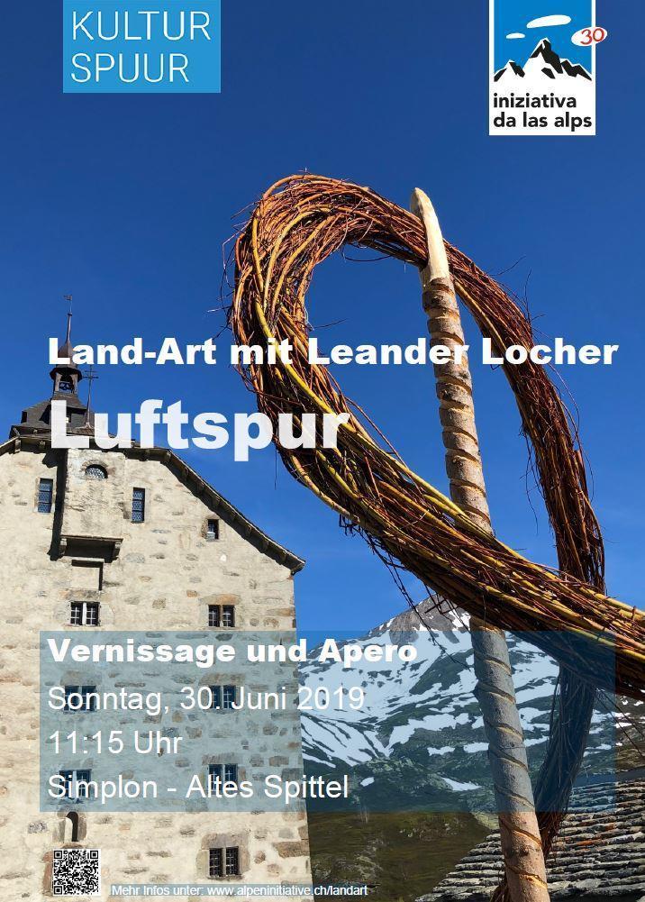"""Vernissage und Apero: Land-Art mit Leander Locher """"Luftspur"""""""