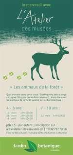 """Atelier des Musées :""""Les animaux de la forêt"""""""