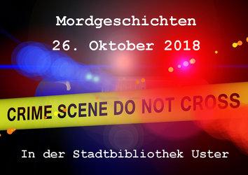 Mordgeschichten in der Stadtbibliothek Uster