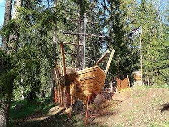 Schnitzeljagd im Piratenland in Obersaxen Mundaun