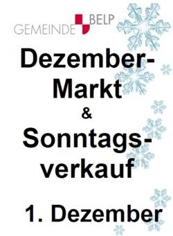 Dezembermarkt und Sonntagsverkauf - 1