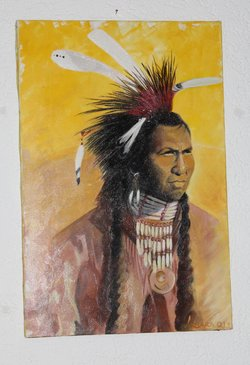 Indianer Sioux Häuptling