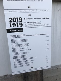 2019 meets 1919 - der mobile, temporäre Lyrik-Weg - 1